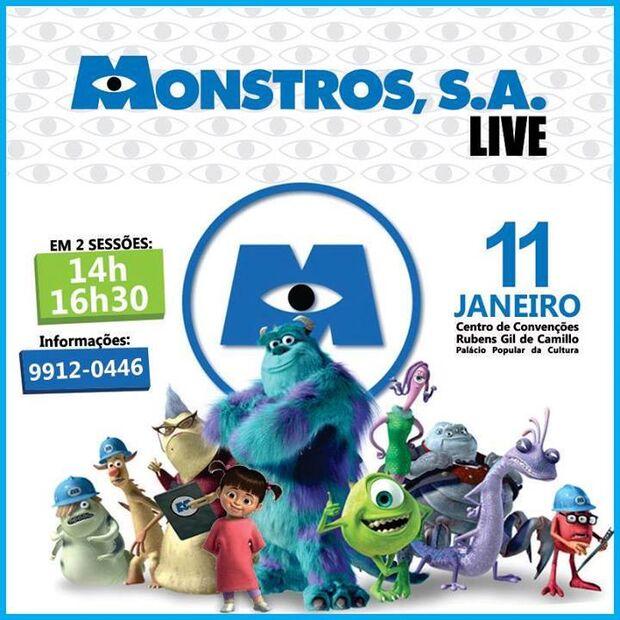 Peça 'Monstros S.A.' será encenado pela primeira vez na Capital