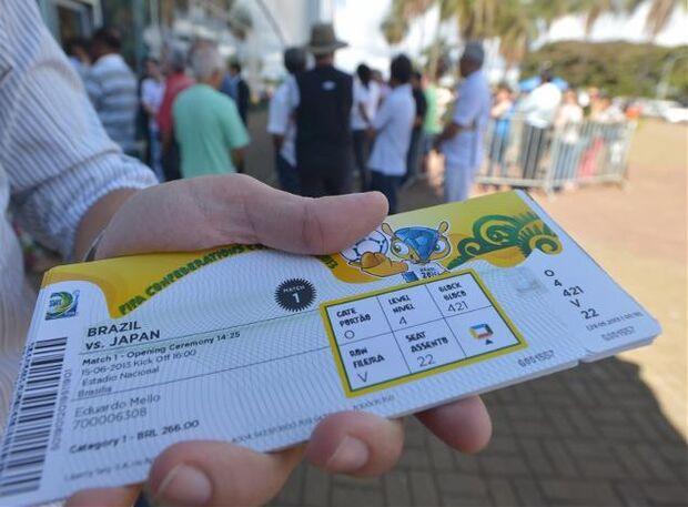 Fifa registra 350 mil pedidos de ingressos para a Copa em 5h