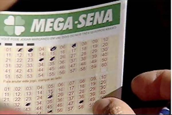 Mega-Sena acumula e o premio será de R$ 6,5 milhões na próxima quarta-feira