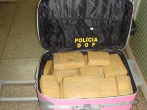 DOF apreende duas adolescentes com 28 kg de maconha em ônibus de viagem
