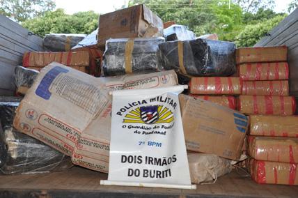PM de Dois Irmãos do Buriti faz a maior apreensão de drogas do ano
