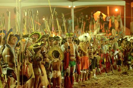 Etnias abrem oficialmente os XII Jogos dos Povos Indígenas