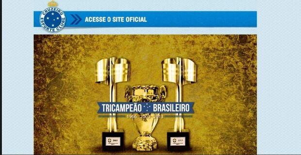 Site do Cruzeiro se precipita e já comemora o título brasileiro