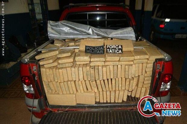PM de Caarapó apreende mais de 2 mil toneladas de maconha