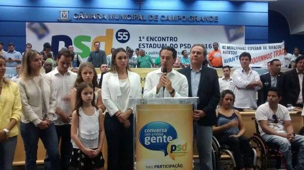Ao lado do irmão, Marquinhos se filia ao PSD e lança programa de pesquisa