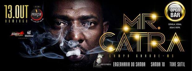 Show de Mr Catra em Campo Grande é adiado por motivos de saúde