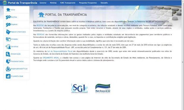 Portal da Transparência será investigado pelo MP/MS