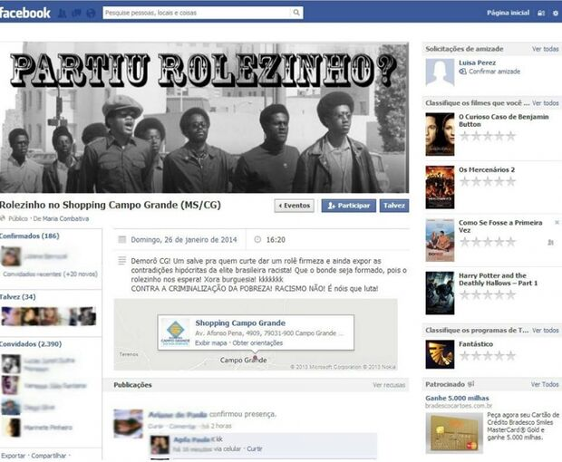Após polêmica em SP jovens organizam 'Rolezinho' em Campo Grande