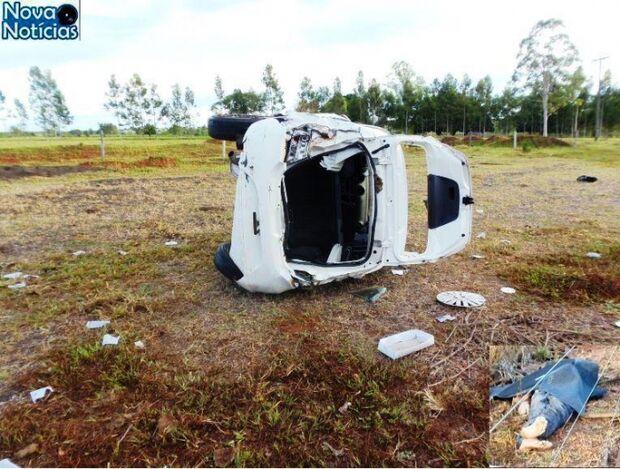 Homem morre após veículo sair da pista e voar por cerca na MS-276