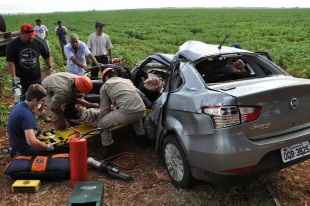 Pai e filha morrem em acidente na BR-060 próximo a Chapadão