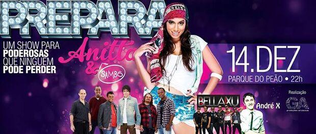 Anitta se apresenta hoje na Capital