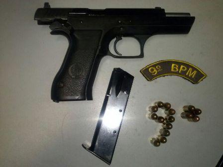 Homem é preso com pistola e munições na Vila Santa Luzia