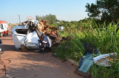 Acidente na BR-163 deixa uma vítima fatal