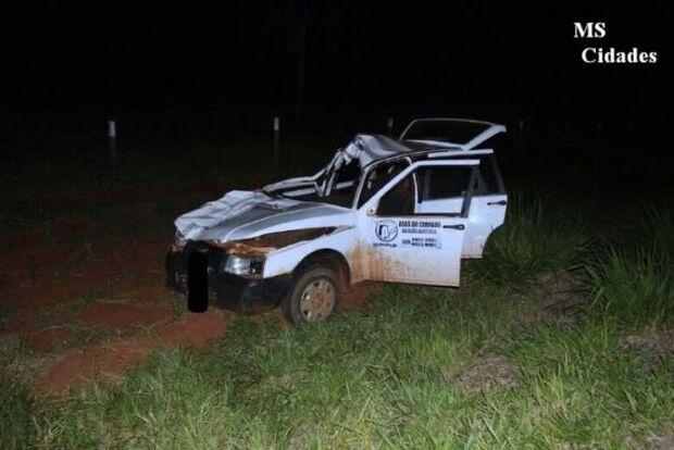 Vaca na pista causa acidente grave na MS-145