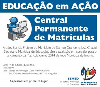 Prefeitura abre na quinta-feira o período de Matrículas Online 2014 para alunos da Reme