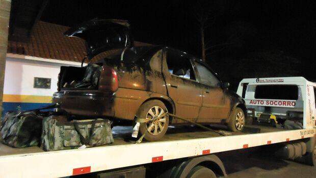 Polícia apreende veículo abandonado em Ponta Porã