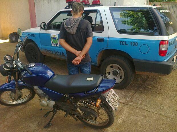 Adolescente preso com moto furtada alega tê-la comprado por 20 reais