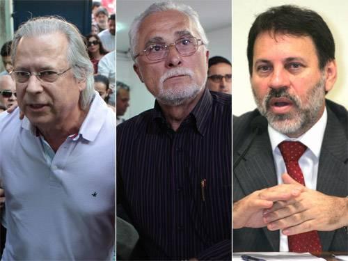 Dirceu, Genoino e Delúbio são transferidos de prisão em Brasília