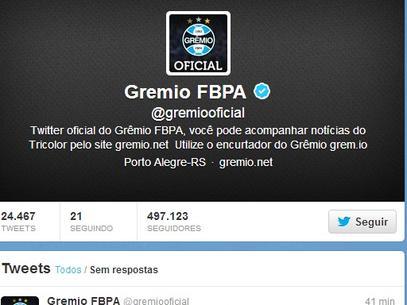 Twitter do Grêmio é hackeado por rivais