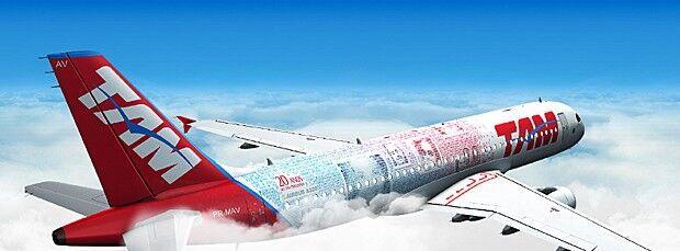 Avião comemorativo da TAM vai estampar fotos de 10 mil clientes