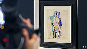 Homem leva quadro de Picasso em rifa de R$ 320