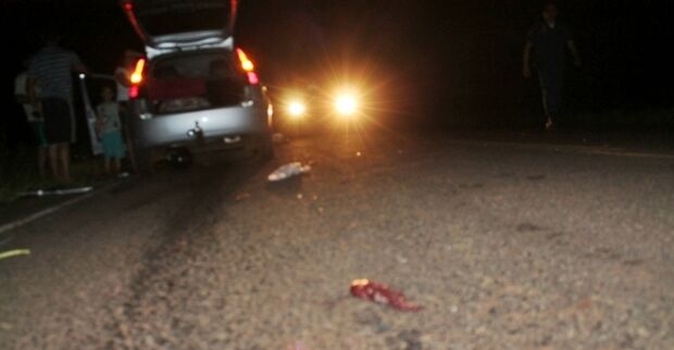 Acidente entre carro e moto na MS-162 deixa homem mutilado