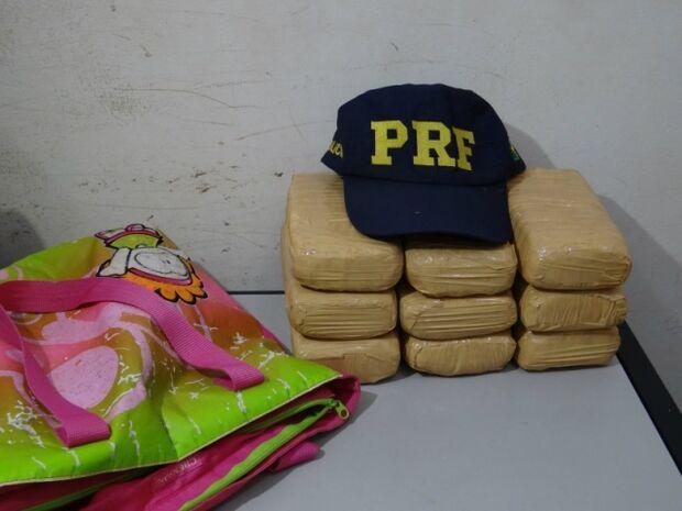 PRF apreende nove quilos de cocaína na BR-463