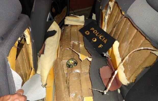 Polícia apreende veículo com 315 kg de maconha na BR-463