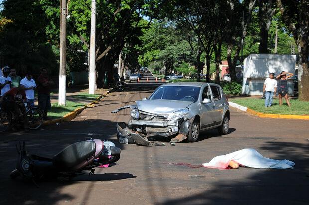 Sucessão de acidentes deixou vítima fatal na manhã de hoje