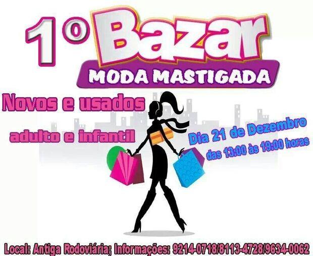 Bazar oferece peças a partir de R$ 2,00 neste sábado