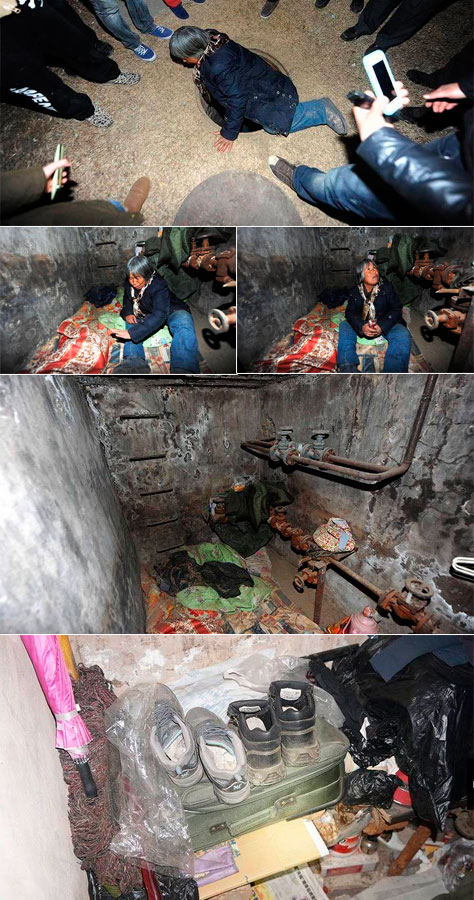 Mulher mora por 20 anos em esgoto na China