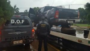 Polícia identifica comboio e apreende 2 t de maconha e contrabando