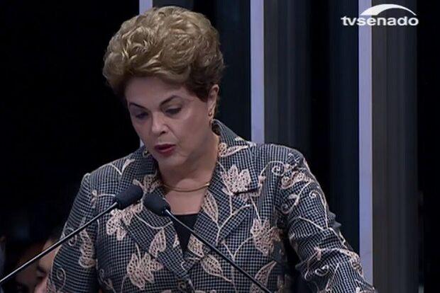 Posso sentir na boca o gosto amargo da injustiça, diz Dilma em depoimento no Senado
