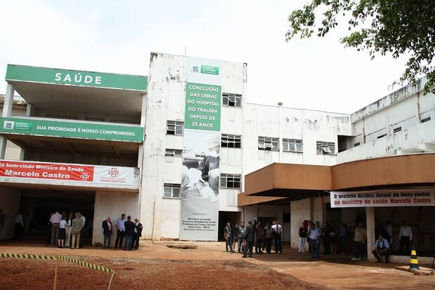 Hospital do Trauma está com 60% das obras em andamento na Capital