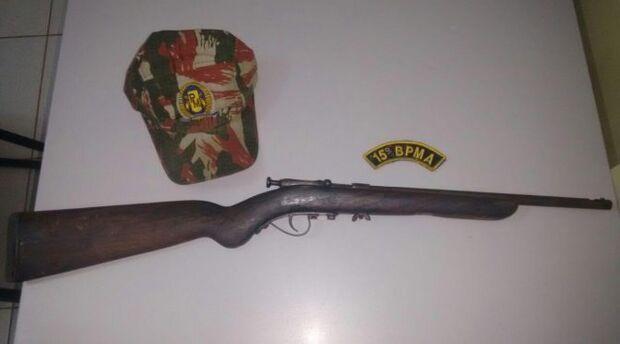 PMA prende caçadores com rifle e munições nas proximidades do rio Ivinhema
