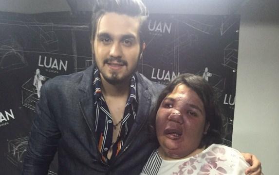 Com apoio do TopMídiaNews, fã de Luan Santana realiza sonho de conhecer o ídolo