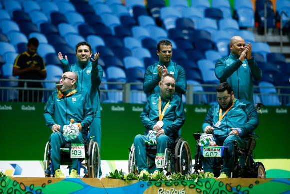 Em partida disputada, Brasil fica com a prata na bocha na classe BC4
