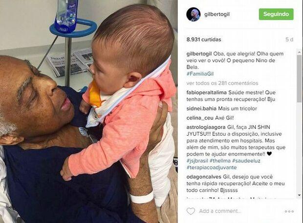Gilberto Gil recebe alta de hospital depois de oito dias internado