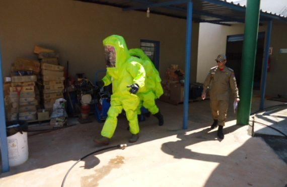 Sanesul realiza treinamento de cloro gasoso em Coxim