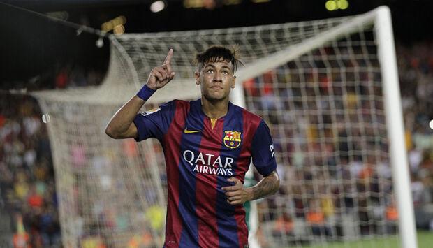 Sem Messi, Barça goleia Sporting Gijón com 2 de Neymar