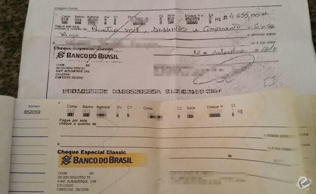 Homem procura a polícia após ter cheque fraudado em Coxim