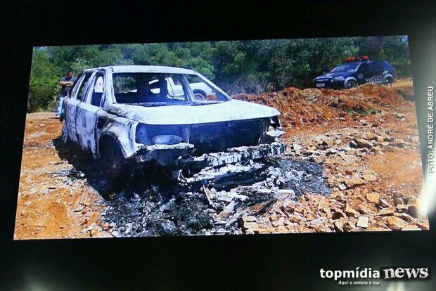 Carro encontrado incendiado em Ponta Porã é mesmo de Alceu Bueno