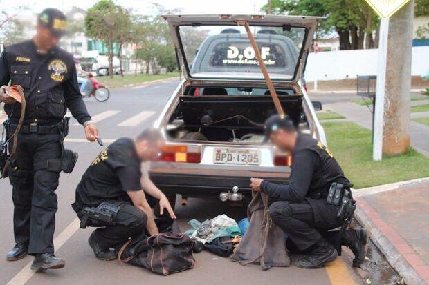 Trio 'caçador' é preso com espingardas e munições em MS