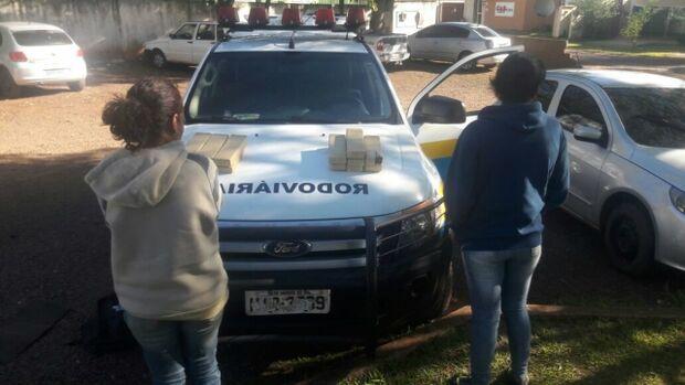Na fronteira, mulheres são presas com 13 quilos de maconha que seriam entregues em Campo Grande