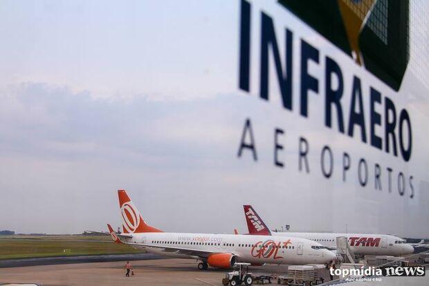 Aeroporto Internacional de Campo Grande opera sem restrições nesta quarta