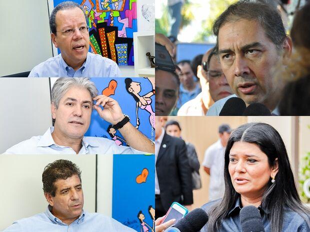 Candidatos se dividem entre reuniões políticas e gravação de programas na Capital