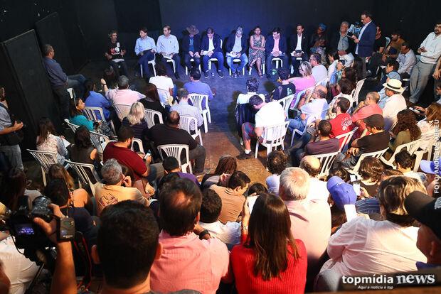 Assista aqui a íntegra do debate sobre cultura com os candidatos a prefeito de Campo Grande