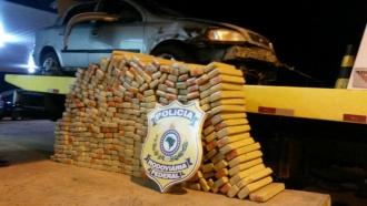 Traficante capota com 265 quilos de droga que seguia para Bahia