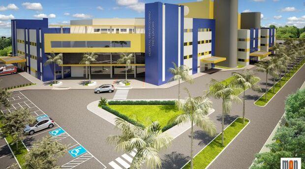 Orçada em R$ 68,4 milhões, obra do Hospital de Três Lagoas começa este ano
