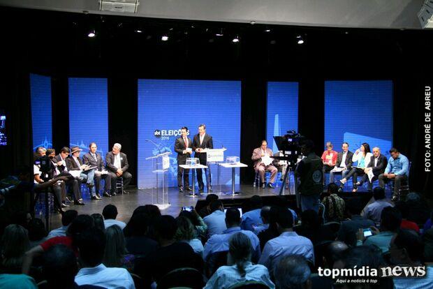 Em debate, Bernal ameaça, Marquinhos desvia de Puccinelli e Rose responde sobre saúde